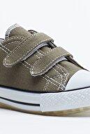 Tonny Black Haki Çocuk Spor Ayakkabı Cırtlı Tb997
