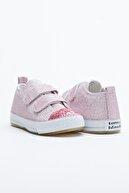 Tonny Black Pembe Çocuk Spor Ayakkabı Cırtlı Tb997