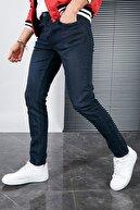 Sateen Men Erkek Koyu Lacivert Slimfit Denim Pantolon