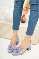 Moda Değirmeni Kadın Gül Fiyonklu Topuklu Ayakkabı