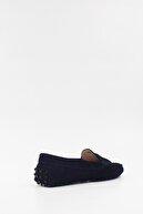 West To West Kadın Loafer Ayakkabı Deri Laci Süet