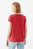 Mavi Cepli Kırmızı Basic Tişört 165846-30734