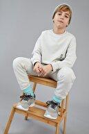 Defacto Erkek Çocuk Oversize Yazı Baskılı Organik Pamuk Sweatshirt