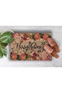 Evsebu Hoşgeldiniz Sonbahar Dekoratif Kapı Önü Paspası