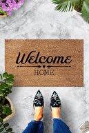 Evsebu Pienso Home Welcome Home Bej Dekoratif Kapı Önü Paspası
