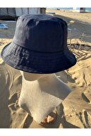 Brandy Fashion Köstebek Siyah Kova Şapka Balıkçı Şapka Bucket