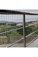 Nodes 200*500cm - Balkon Filesi Ağı - Kedi Filesi - Kuş Filesi - Çocuk Filesi - Beyaz
