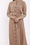 Moylin 1460 Boydan Düğmeli Elbise