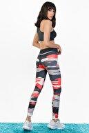 Runever Kadın Çok Renkli Dijital Baskılı Toparlayıcı Tayt