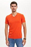 Defacto Slim Fit V Yaka Basic Tişört