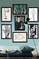 Kate Louise Çerçeve Görünümlü Mdf Tablo Seti 60x60 cm 7 Parça