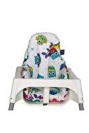 Pamuk Atölyesi Baykuşlu Küçük Mama Sandalyesi Minderi - Çift Taraflı