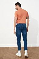TRENDYOL MAN Açık Lacivert Erkek Skinny Crop Jeans TMNSS21JE0060