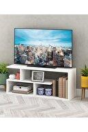 Sanal Mobilya Beyaz Masal Tv Sehpası