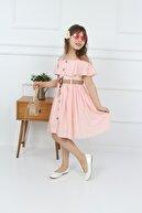 şımarık kids Çocuk Pembe Çantalı Boydan Düğmeli Elbise