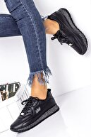 Lal Shoes & Bags Kadın Siyah Spor Ayakkabı