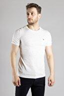 ZEKİ ÖZER Erkek Beyaz Bisiklet Yaka T-shirt