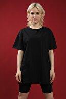 Grenj Fashion Bisiklet Yaka Oversize Örme Tshirt