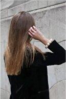 Marbling Kadın Pearls Inci Esnek Saç Tokası