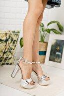 Faveur de paris Kadın Gümüş Topuklu Ayakkabı