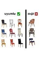 F faiend Etekli Bürümcük Esnek Sandalye Örtüsü Sandalye Kılıfı