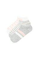 Penti Gri Beyaz Gırl Power  Patik Çorap 3lü