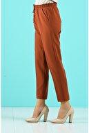 Essah Moda Kadın Taba Lastikli Havuç Pantolon - Me000277