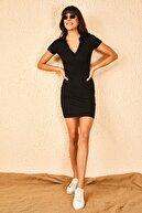 Bianco Lucci Kadın Siyah Kaşkorse Elbise