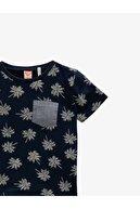Koton Erkek Bebek Lacivert Bisiklet Yaka Kısa Kol T-Shirt