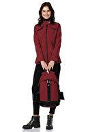 Essin Kadın Kırmızı Çanta Mont Seti ESN123