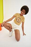 TRENDYOLMİLLA Camel  CROP T-Shirt TWOSS21TS2900