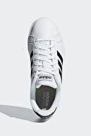adidas Grand Court- Siyah Beyaz Kadın Sneaker Ayakkabı 100403391