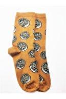 Socks Pack Oreo Desenli Kahverengi Çorap