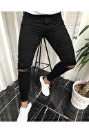 ukdwear Erkek Siyah Slim Fit Kot Pantolon