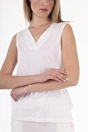 Stamina V Yaka Kolsuz Kadın  Bluz Ekru