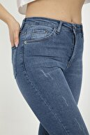 SİZ Kadın Büyük Beden Gri Renk Cepli Skinny Jeans