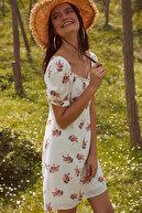 TRENDYOLMİLLA Ekru Desenli Elbise TOFSS18EK0108