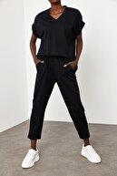Xena Kadın Siyah V Yaka İkili Takım 1KZK8-11689-02
