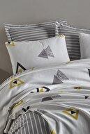 Enlora Home %100 Doğal Pamuk Pike Takımı Tek Kişilik Erois Beyaz