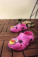 Shubuu Unisex Bebek Çocuk Fuşya Bird Sandalet/ Terlik