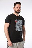 Lotto Erkek Siyah T-shirt R9698