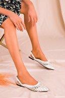 Soho Exclusive Beyaz Kadın Sandalet 15027