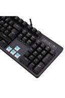 Everest Kb-gx7 Bluesky Full Rainbow 9 Renk Mavi Switch Deri Bilek Destekli Mekanik Oyuncu Klavye