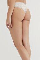 Penti Kadın Beyaz Rusty Lace Brazilian Külot