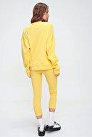 Trend Alaçatı Stili Kadın Sarı Sweatshirt Örme Tayt İkili Takım ALC-X5890