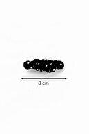 miyolin Beyaz Puantiyeli Siyah Kumaş Otomatik Klipsli Toka