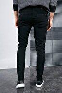 Sateen Men Erkek Siyah Slimfit Yıkamalı Denim Pantolon