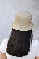 Bobigo Koyu Bej Kova Şapka Balıkçı Şapka Bucket Hat