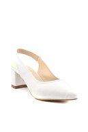 Bambi Beyaz Kadın Klasik Topuklu Ayakkabı K01503721009