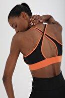 Tommy Life Kadın Oranj Çapraz Sırt Detaylı Slim Fit U Yaka Spor Büstiyer - 97121